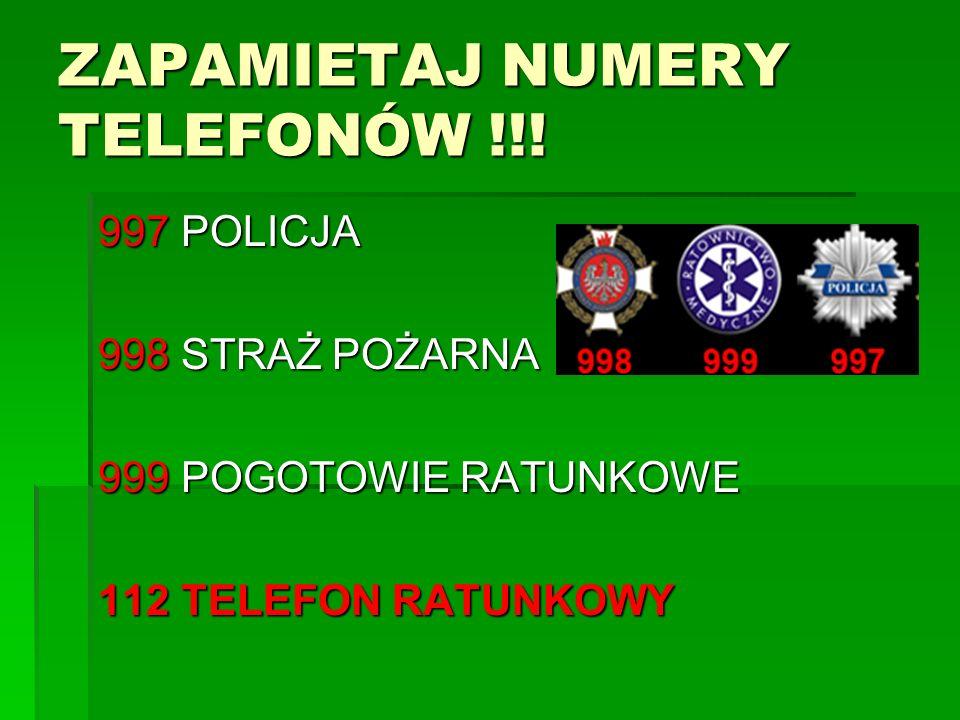 ZAPAMIETAJ NUMERY TELEFONÓW !!!