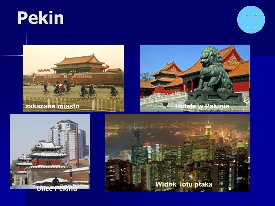Pekin zakazane miasto Hotele w Pekinie Widok lotu ptaka Ulice Pekinu