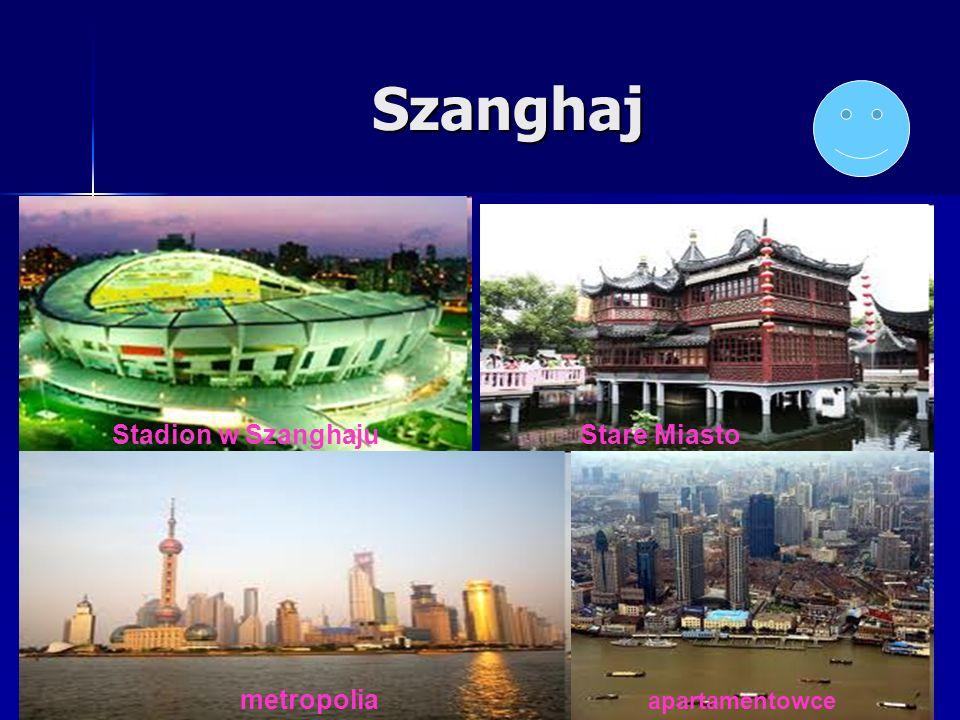 Szanghaj Stadion w Szanghaju Stare Miasto metropolia apartamentowce