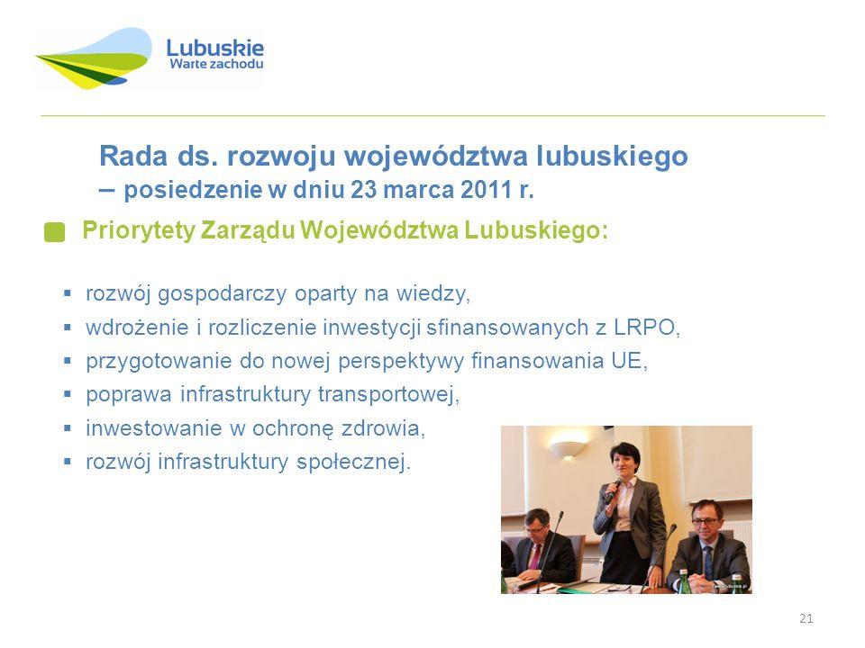 Rada ds. rozwoju województwa lubuskiego