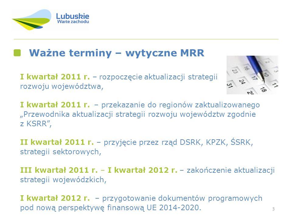 Ważne terminy – wytyczne MRR