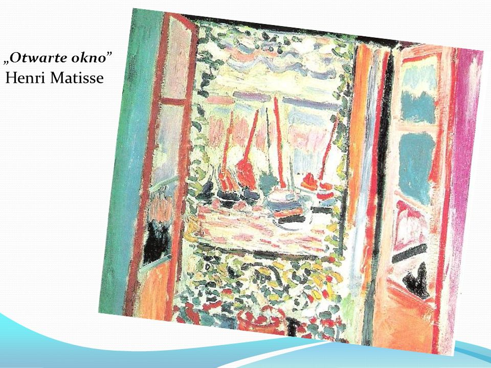 """Otwarte okno Henri Matisse"