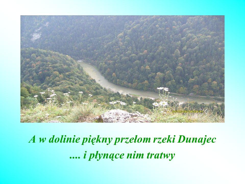 A w dolinie piękny przełom rzeki Dunajec