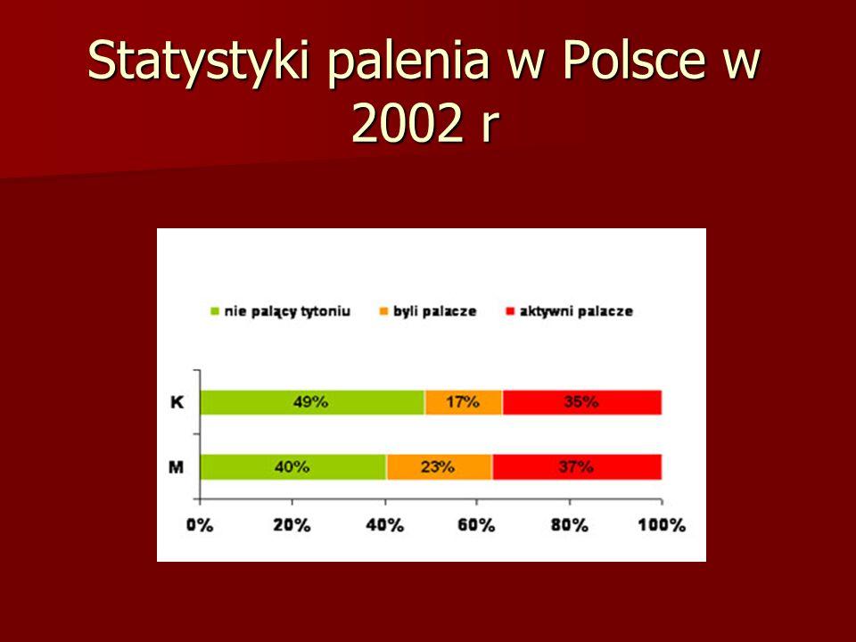 Statystyki palenia w Polsce w 2002 r