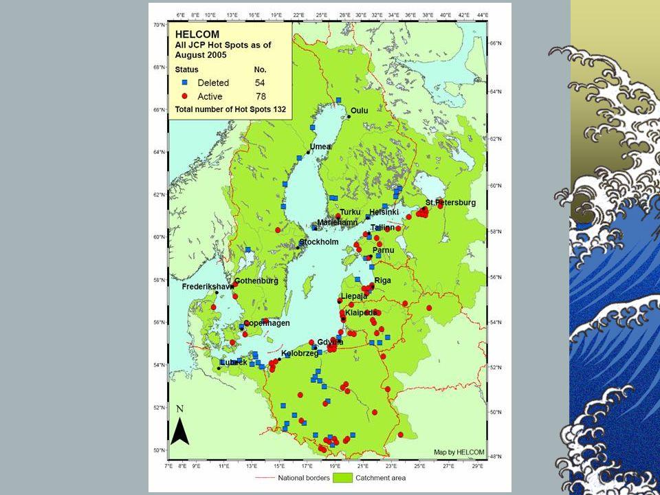 W opracowanym pod koniec 1992 roku programie inwestycyjnym na obszarze zlewiska Bałtyku zidentyfikowano 132 obiekty i obszary (hot-spots) najbardziej uciążliwe dla środowiska Morza Bałtyckiego, w tym 47 o znaczeniu pierwszoplanowym.