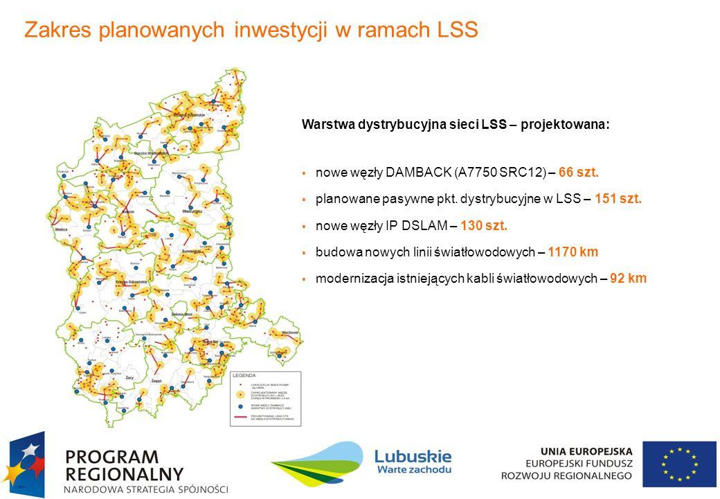 Zakres planowanych inwestycji w ramach LSS