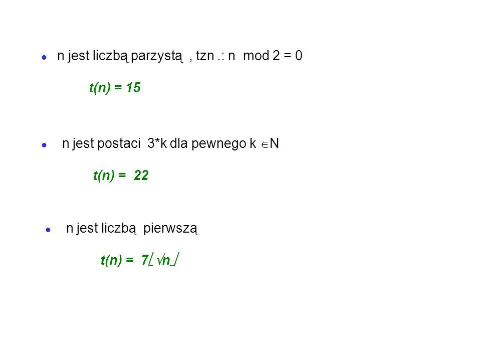 n jest liczbą parzystą , tzn .: n mod 2 = 0