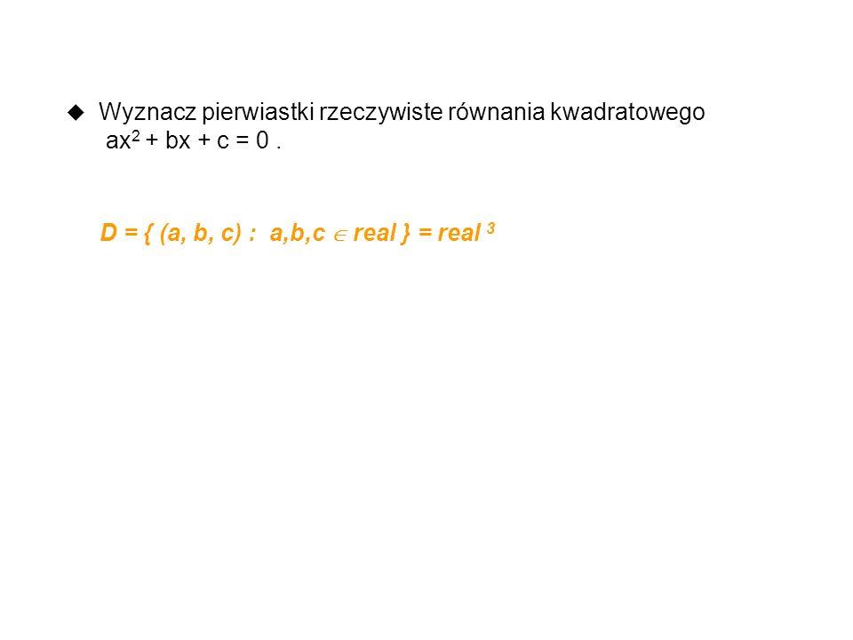 Wyznacz pierwiastki rzeczywiste równania kwadratowego