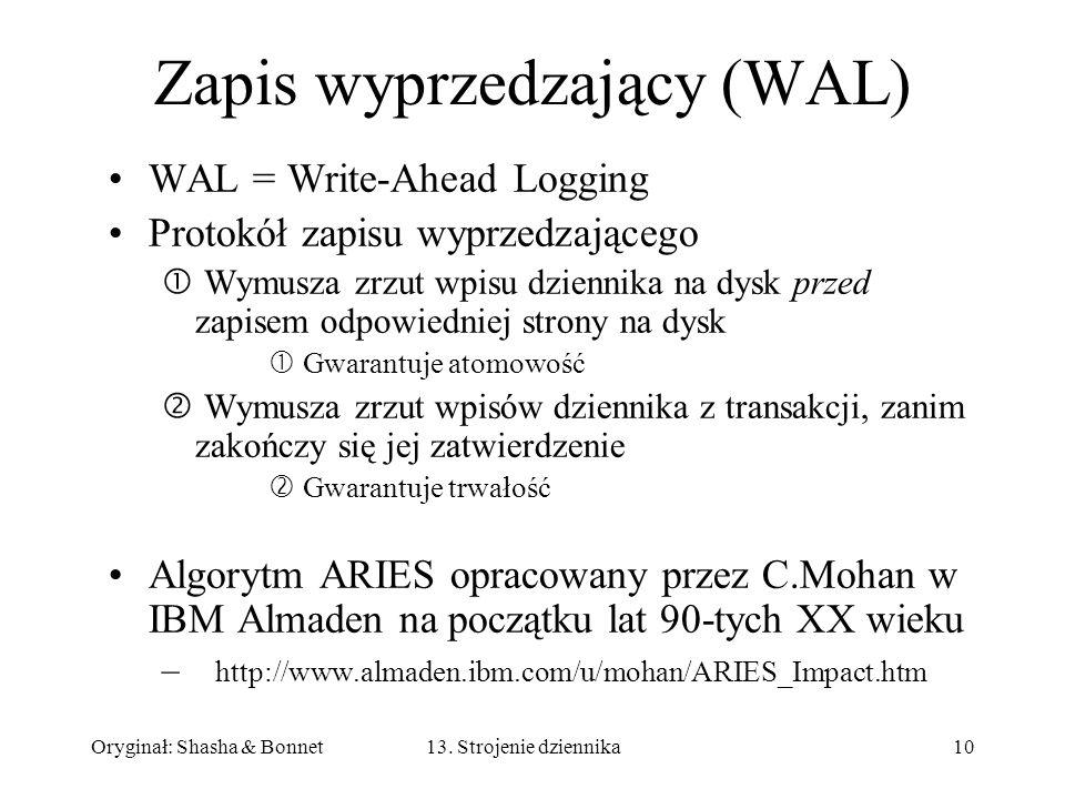 Zapis wyprzedzający (WAL)