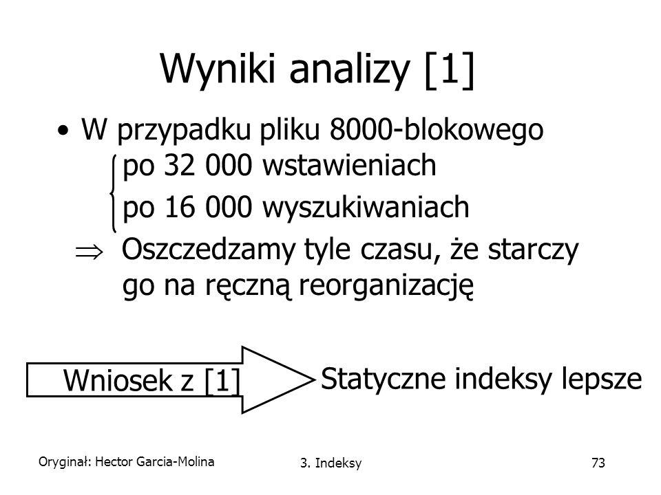 Statyczne indeksy lepsze