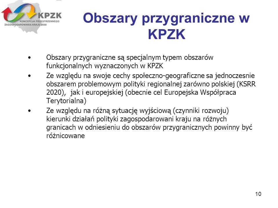 Obszary przygraniczne w KPZK