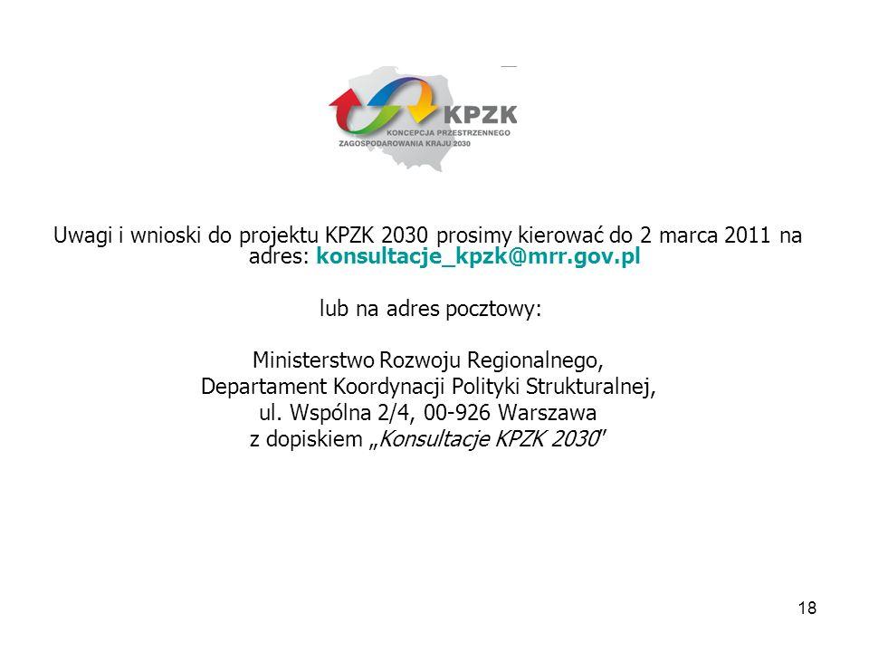Ministerstwo Rozwoju Regionalnego,