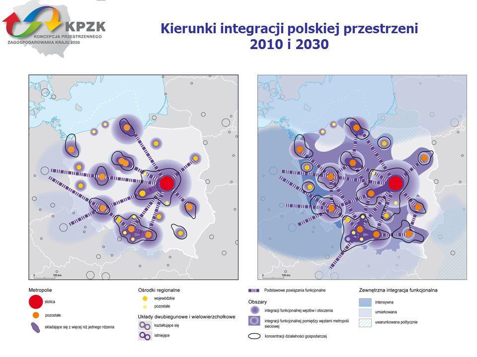Kierunki integracji polskiej przestrzeni 2010 i 2030