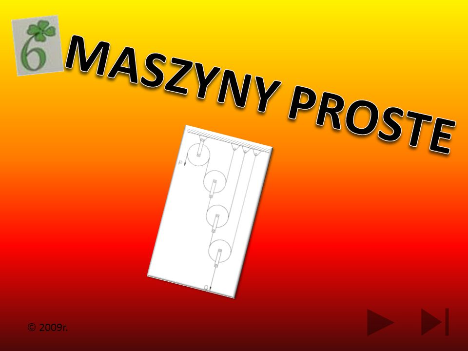 MASZYNY PROSTE © 2009r.