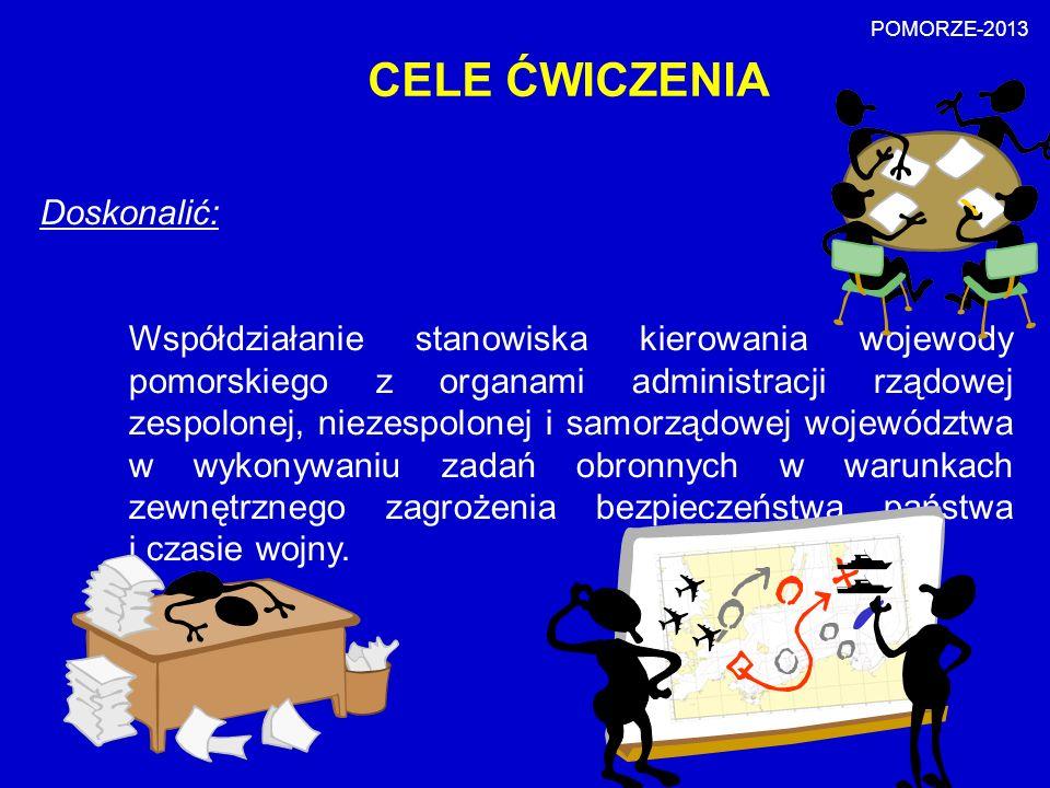 POMORZE-2013 CELE ĆWICZENIA. Doskonalić: