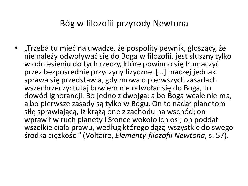 Bóg w filozofii przyrody Newtona