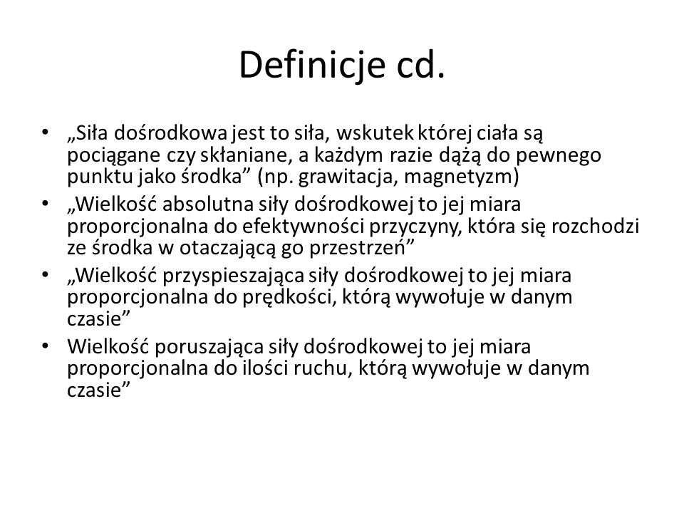 Definicje cd.