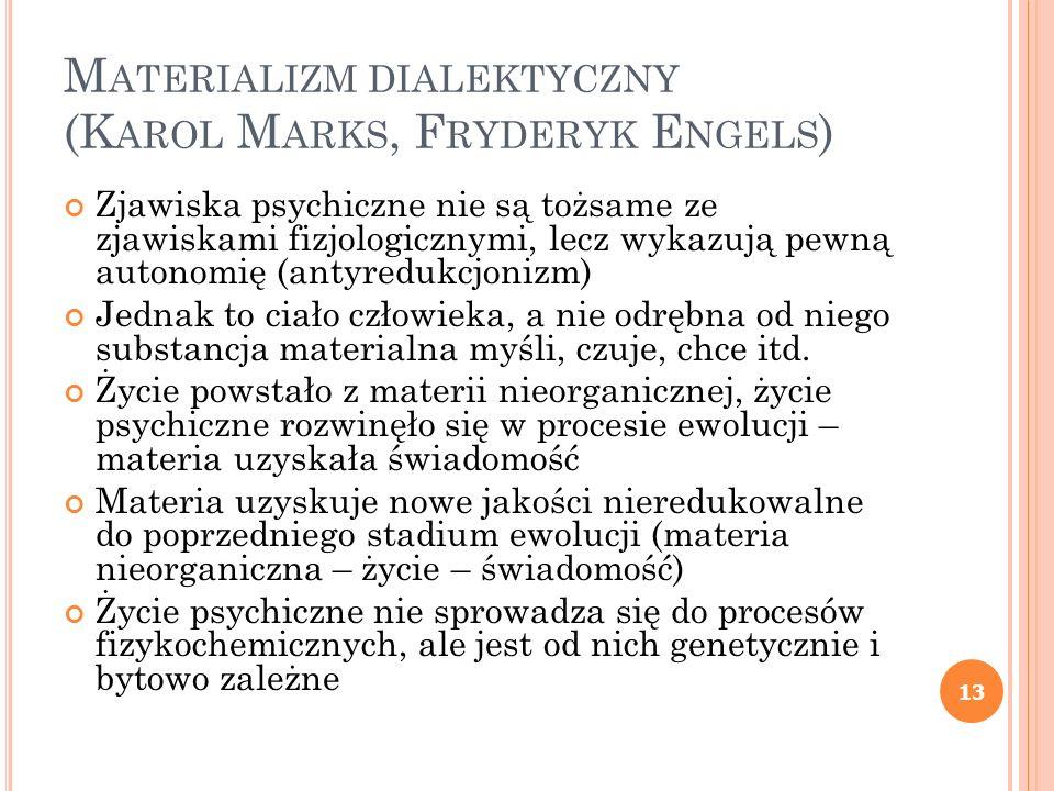 Materializm dialektyczny (Karol Marks, Fryderyk Engels)