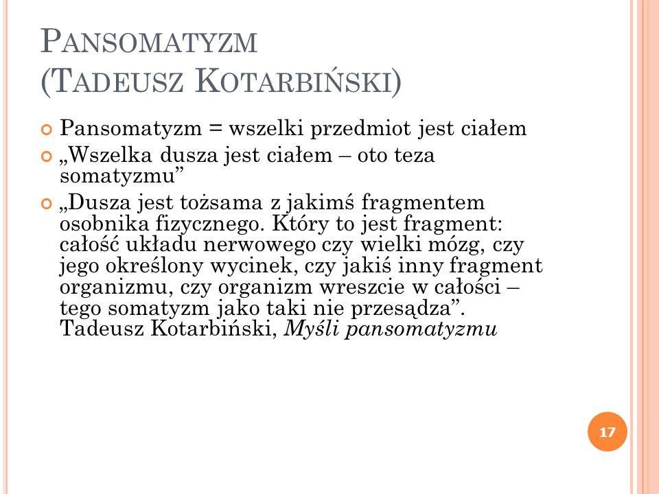 Pansomatyzm (Tadeusz Kotarbiński)