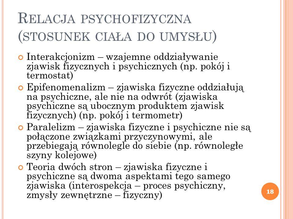 Relacja psychofizyczna (stosunek ciała do umysłu)
