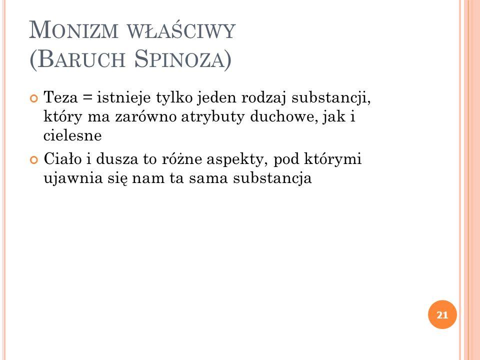 Monizm właściwy (Baruch Spinoza)