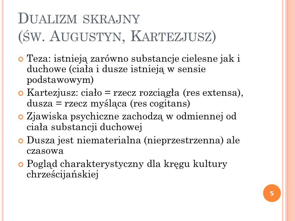 Dualizm skrajny (św. Augustyn, Kartezjusz)