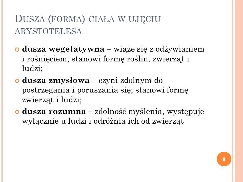 Dusza (forma) ciała w ujęciu arystotelesa
