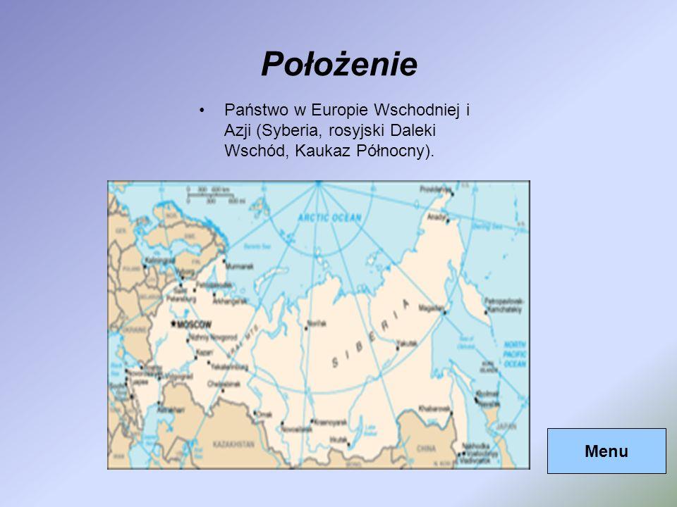 PołożeniePaństwo w Europie Wschodniej i Azji (Syberia, rosyjski Daleki Wschód, Kaukaz Północny).