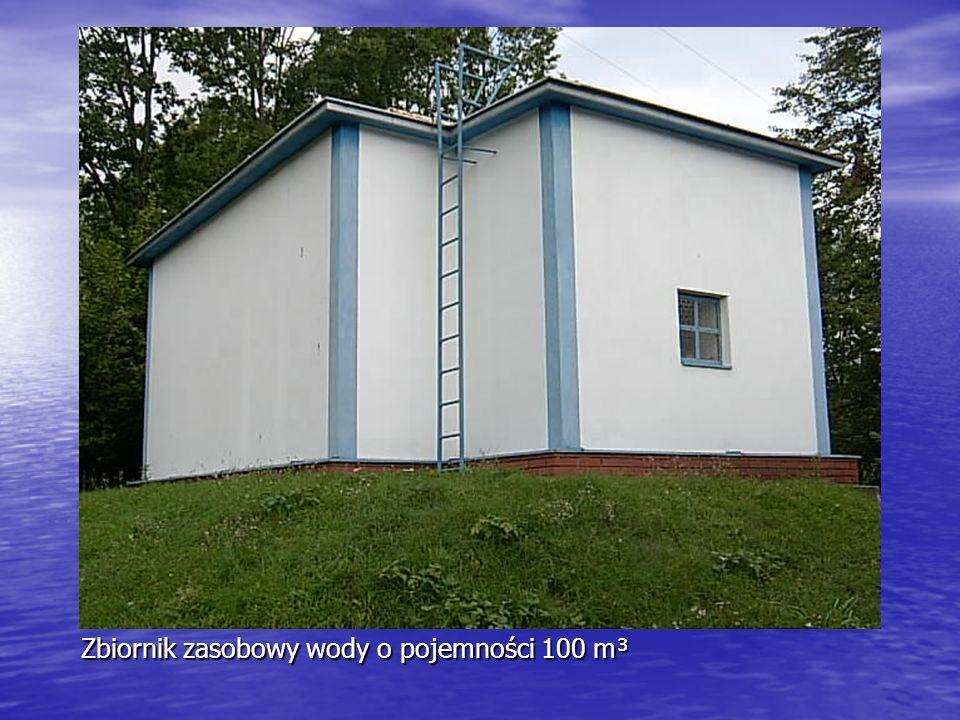 Zbiornik zasobowy wody o pojemności 100 m³