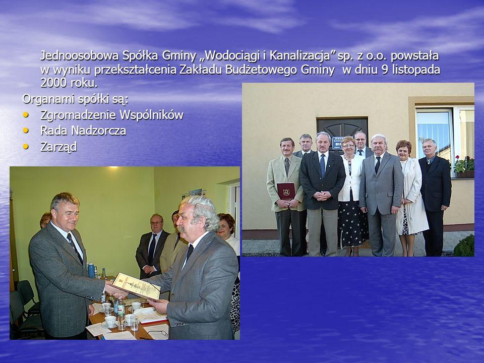 """Jednoosobowa Spółka Gminy """"Wodociągi i Kanalizacja sp. z o. o"""