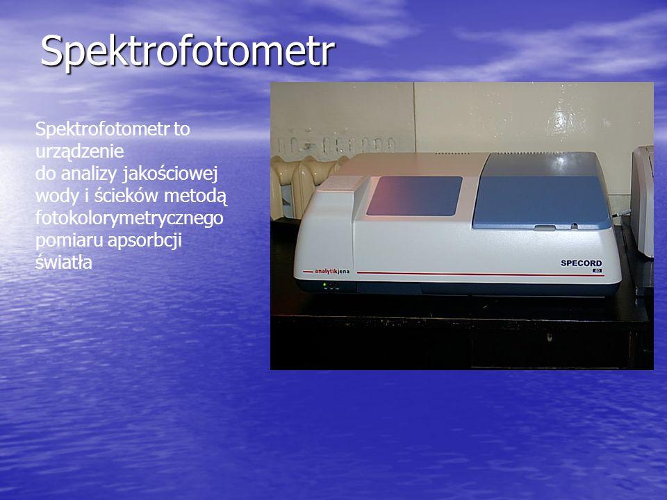 Spektrofotometr Spektrofotometr to urządzenie
