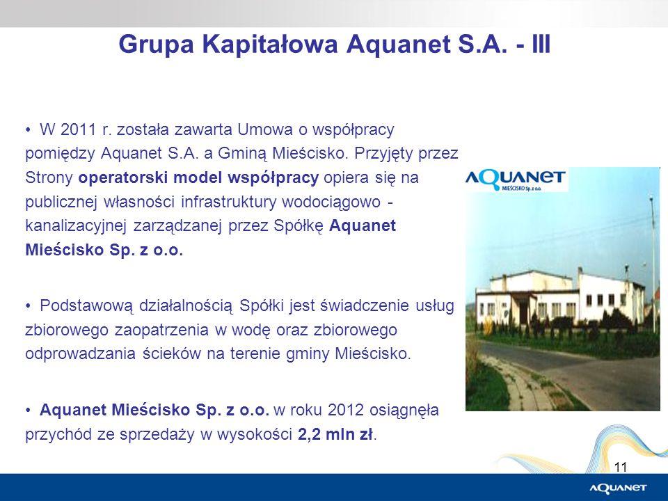 Grupa Kapitałowa Aquanet S.A. - III