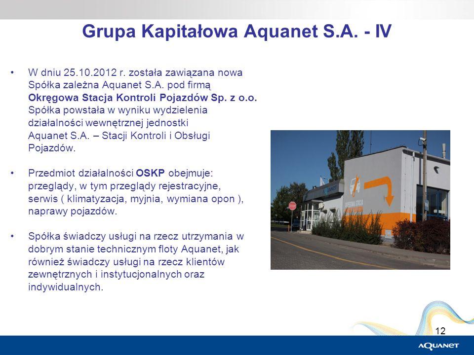 Grupa Kapitałowa Aquanet S.A. - IV