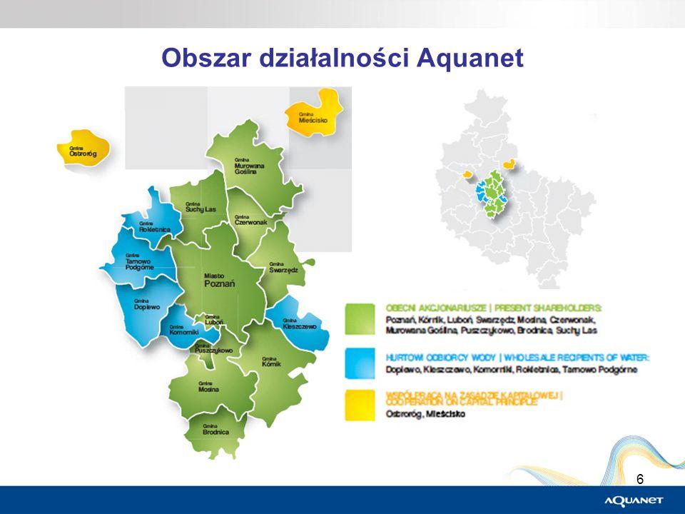 Obszar działalności Aquanet
