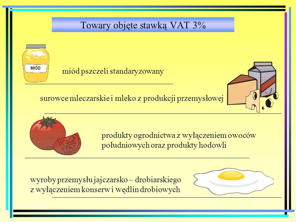 Towary objęte stawką VAT 3%