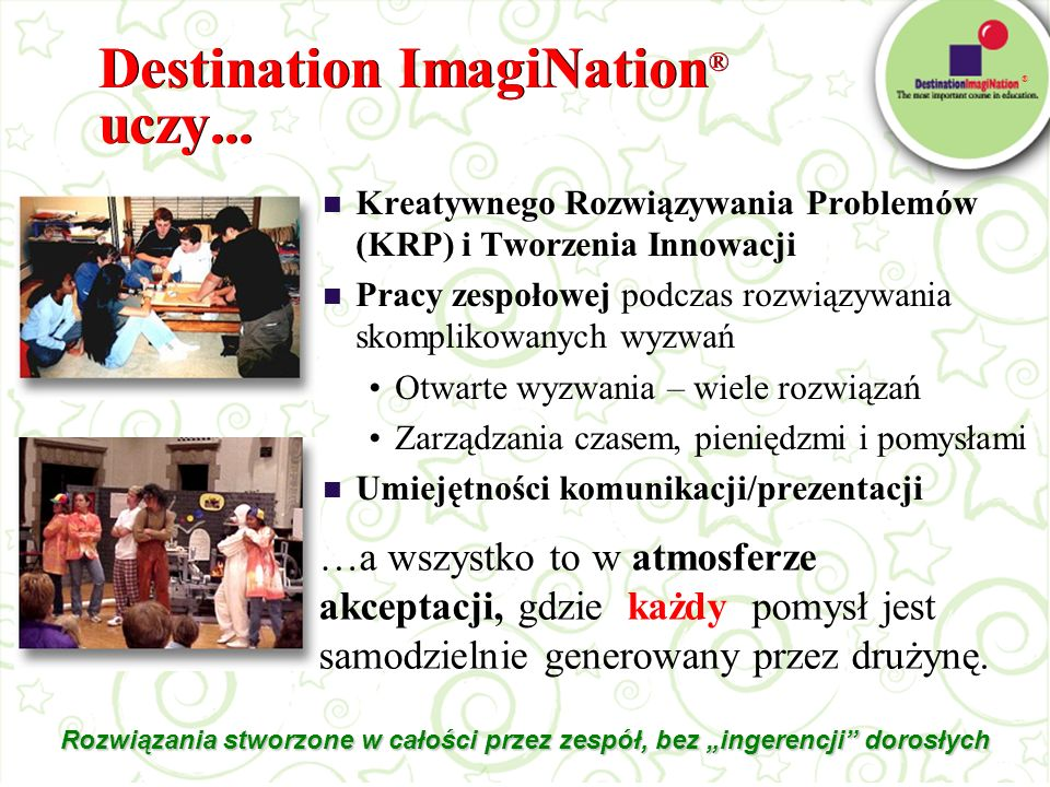 Destination ImagiNation® uczy...