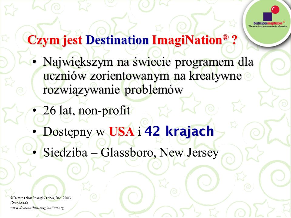 Czym jest Destination ImagiNation®