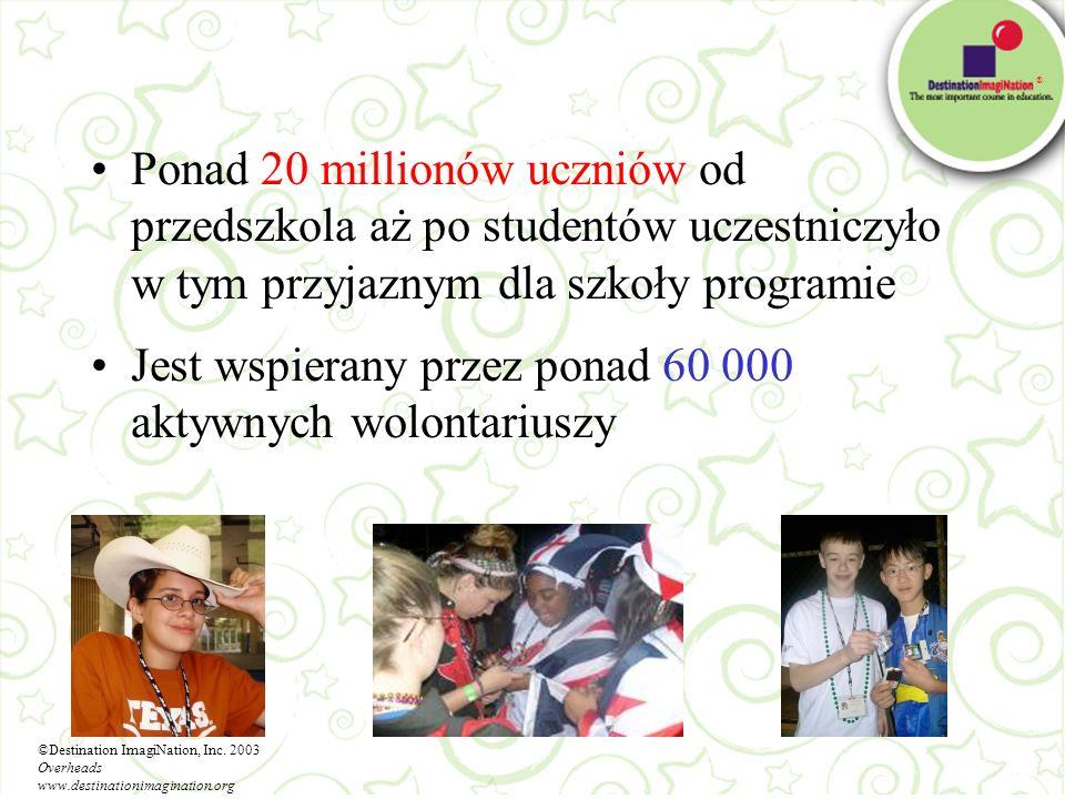 Jest wspierany przez ponad 60 000 aktywnych wolontariuszy