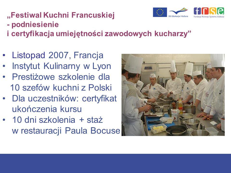 Instytut Kulinarny w Lyon Prestiżowe szkolenie dla