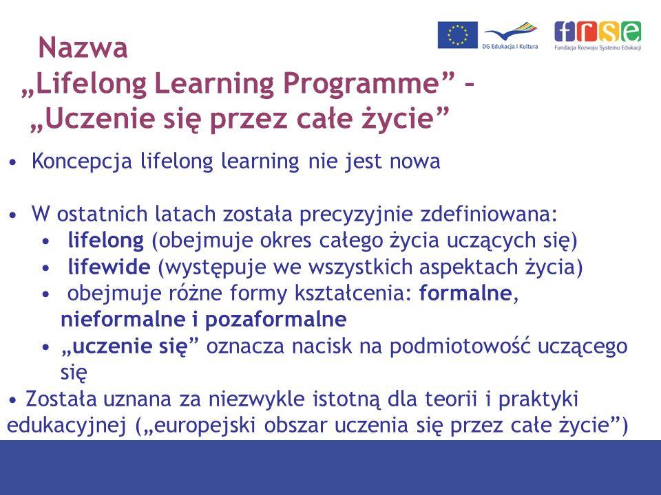 """""""Lifelong Learning Programme – """"Uczenie się przez całe życie"""