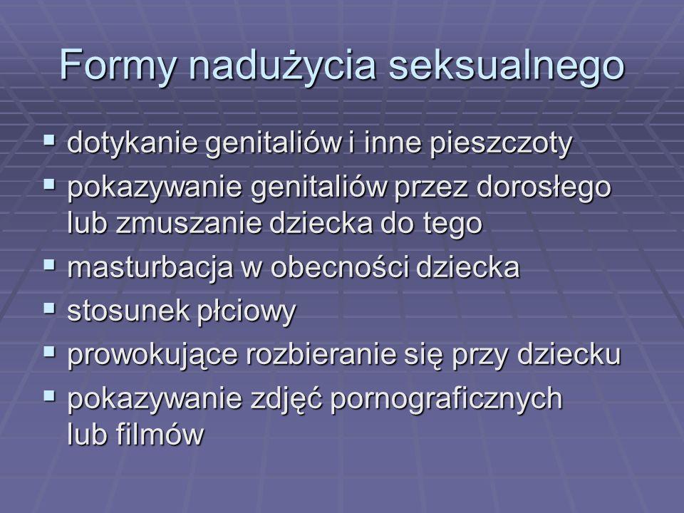 Formy nadużycia seksualnego