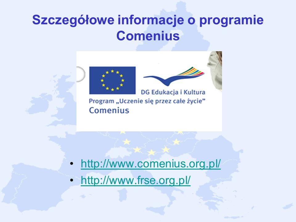 Szczegółowe informacje o programie Comenius
