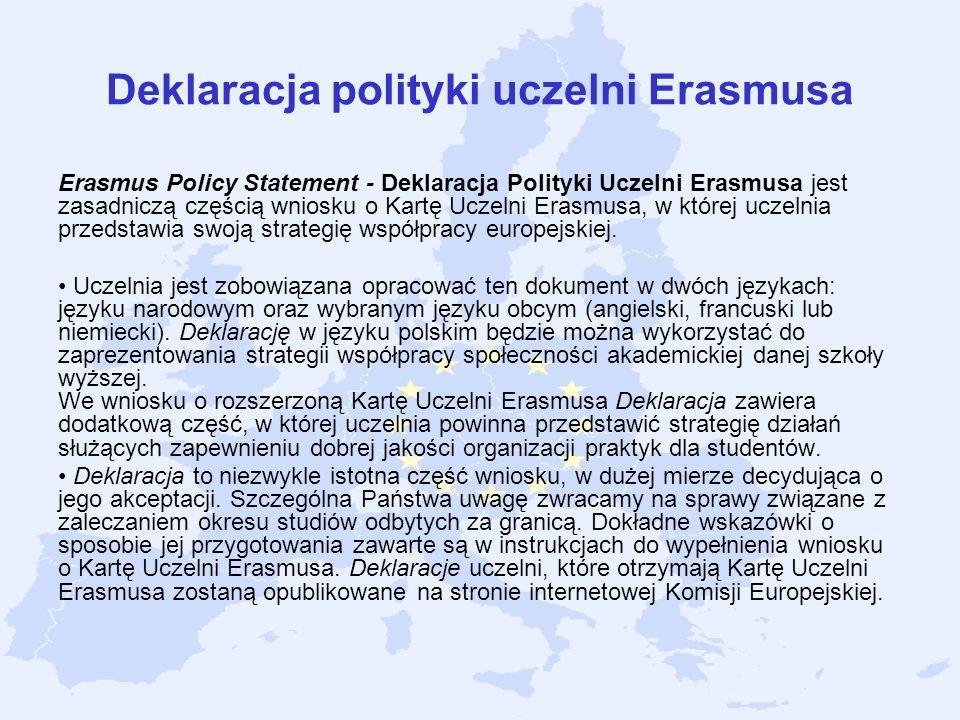 Deklaracja polityki uczelni Erasmusa
