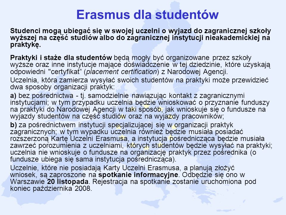Erasmus dla studentów