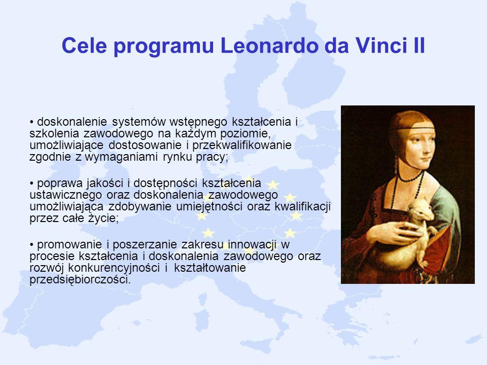 Cele programu Leonardo da Vinci II