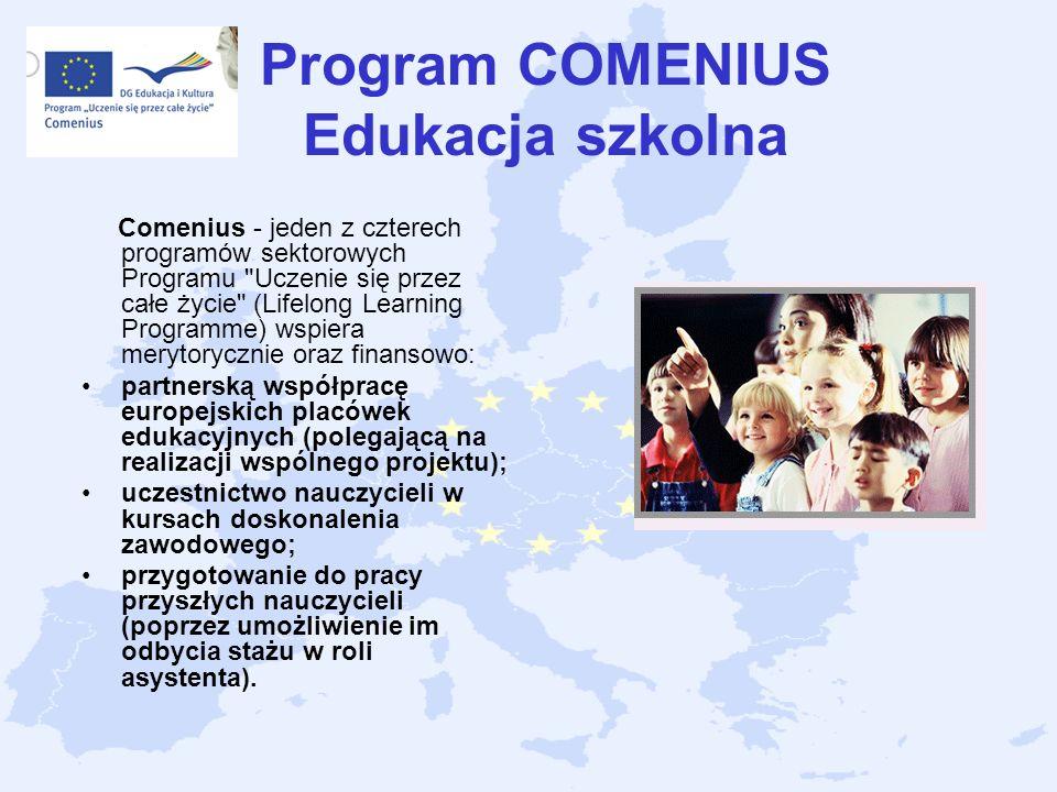 Program COMENIUS Edukacja szkolna