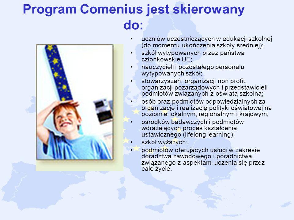 Program Comenius jest skierowany do:
