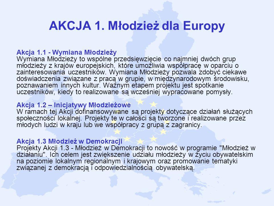 AKCJA 1. Młodzież dla Europy