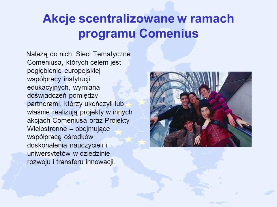 Akcje scentralizowane w ramach programu Comenius