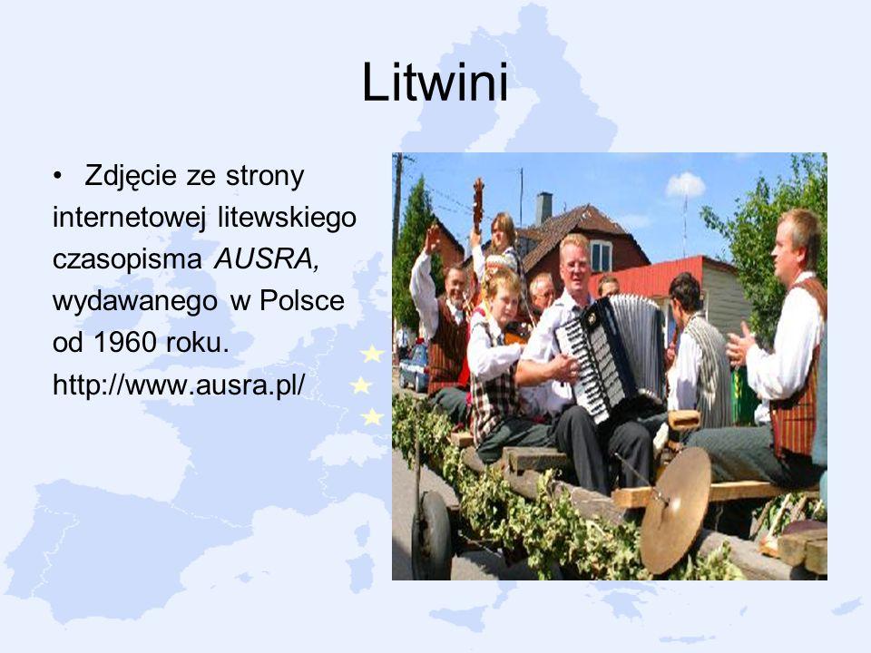 Litwini Zdjęcie ze strony internetowej litewskiego czasopisma AUSRA,